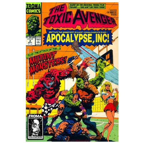 the toxic avenger comic book 02 digital download troma direct