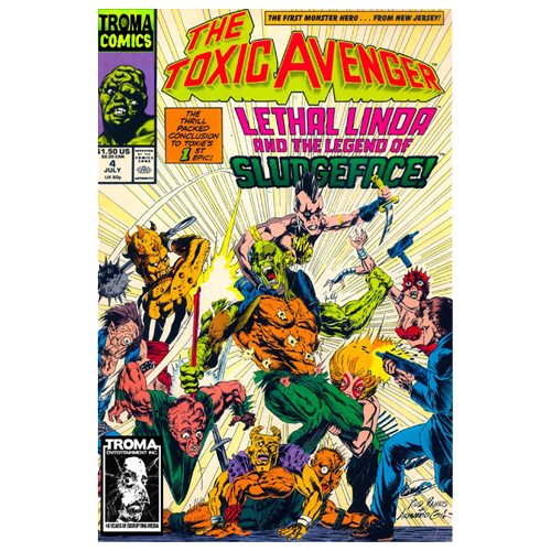 the toxic avenger comic book 04 digital download troma direct